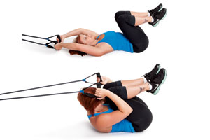 Resistance Band Pull-Over Crunch