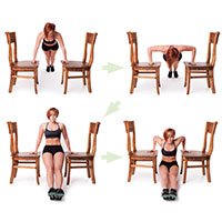Trapeze Push-up Dips